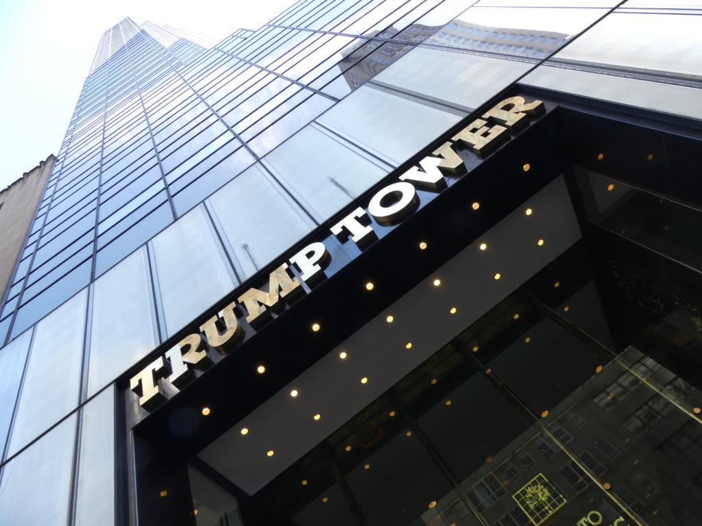 Trump Tower : avec le Trump café, le Trump store, etc...