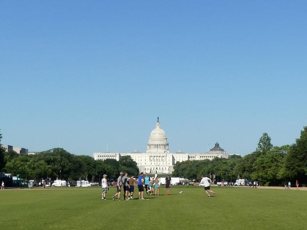 Washington DC : le capitole vu depuis l'Ouest