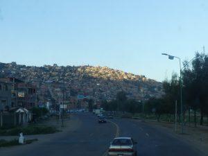 le matin au réveil dans le bus SantaCruz-Cochabamba