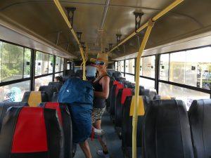 bus de Pavona à Cariri, presque en bon état