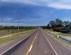 de Montevideo à Salto la route fait de longues lignes droites
