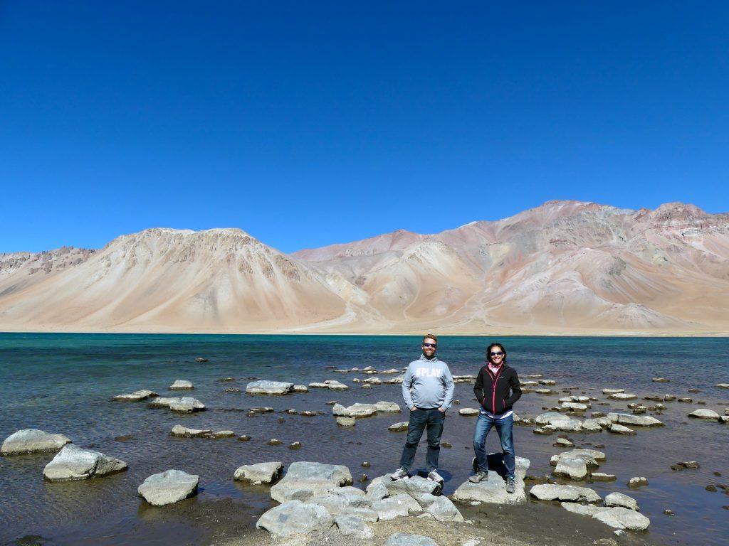 excursion à la Laguna del Diamante, vue depuis l'autre côté