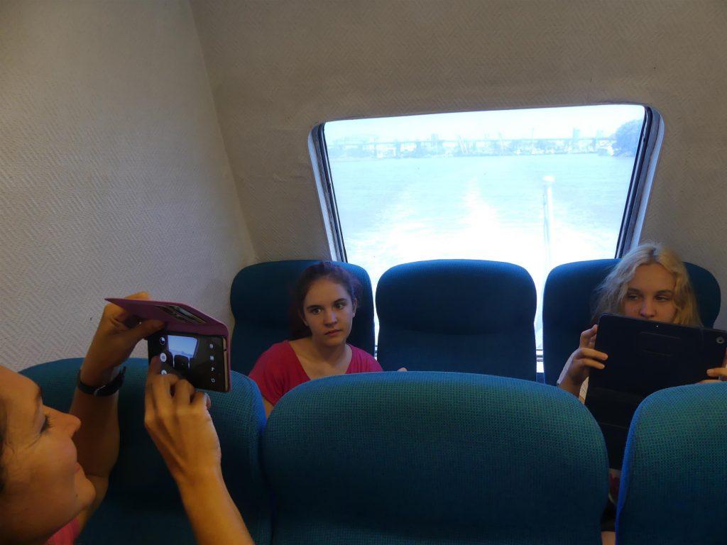 à bord du ferry