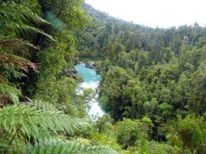 La gorge bleue et le swinging bridge