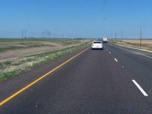 Immenses lignes droites typiques des USA : c'est plat le Texas