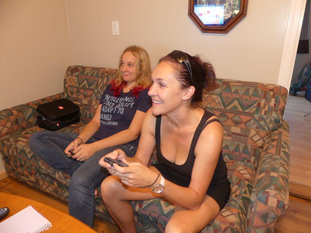 Oui, Chrystel joue à la switch ! C'est assez rare pour mériter la photo !