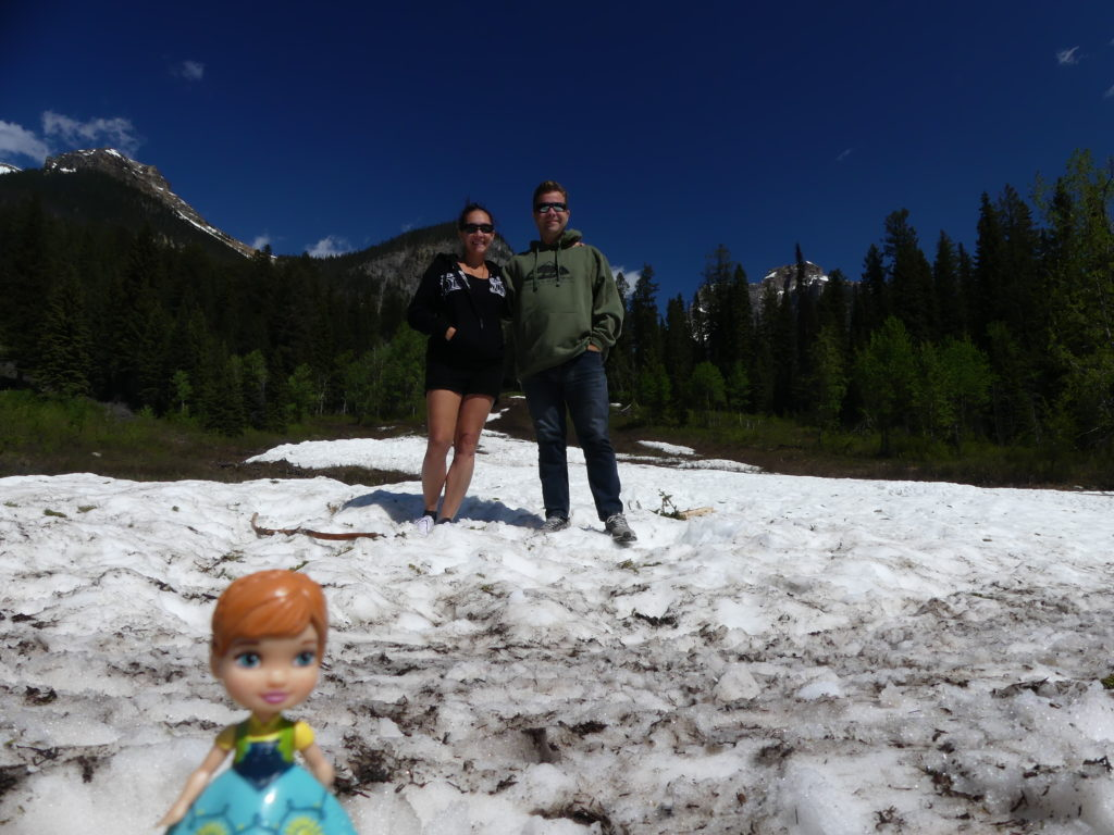 un vrai voyage au Canada, se fait les pieds dans la neige !