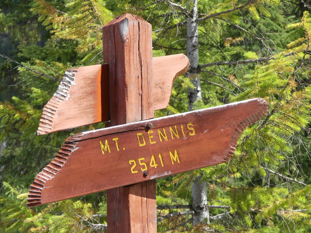 panneau indiquant le Mont Dennis