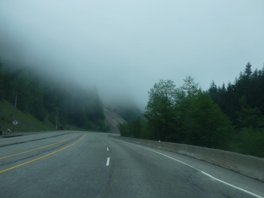 route de Hope à Osoyoos : ce matin, c'est nuageux
