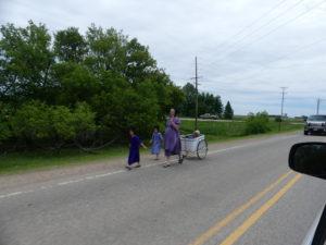 Une famille Amish sur la Highway