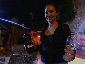 soirée à l'auberge, un petit vin d'Argentine bien mérité