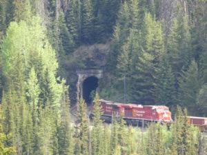 le tunnel et son train