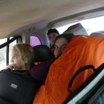 à bord du taxi