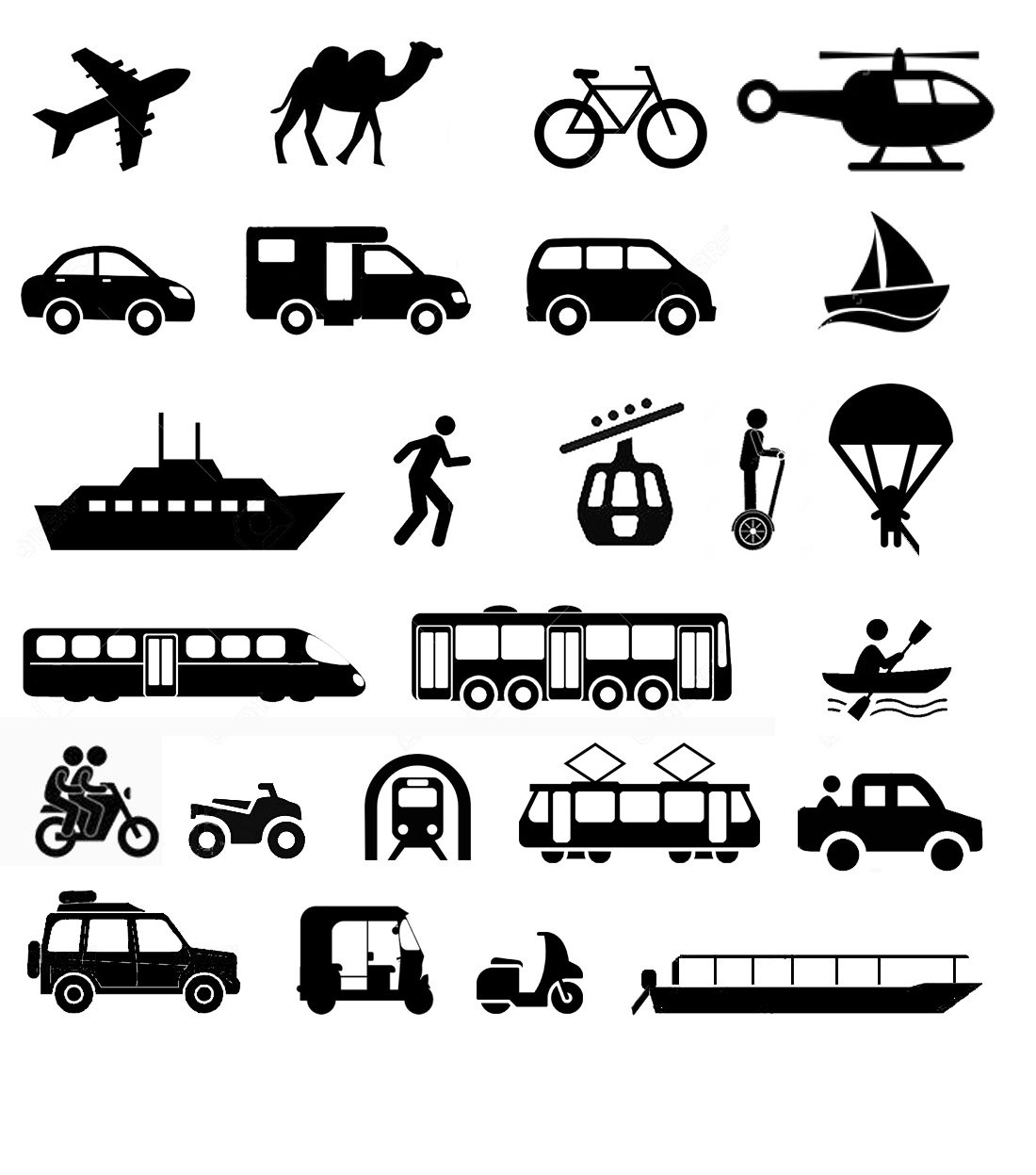 Les types de transport