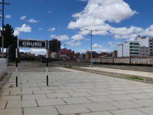 Gare d'Oruro, Bolivie