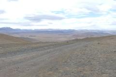 vue sur les montagnes en Zone Interdite