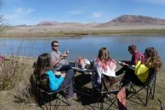 Pique nique en Mongolie