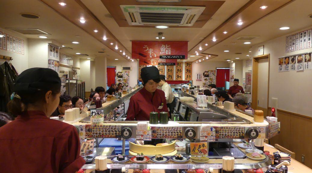 Resto à sushis à Osaka