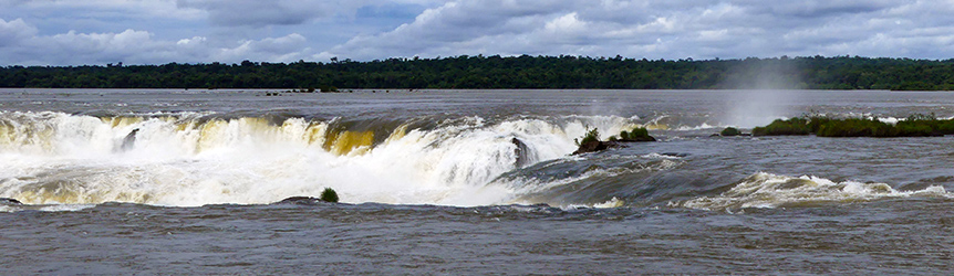 Deversoir-Argentine chutes d'Iguazu
