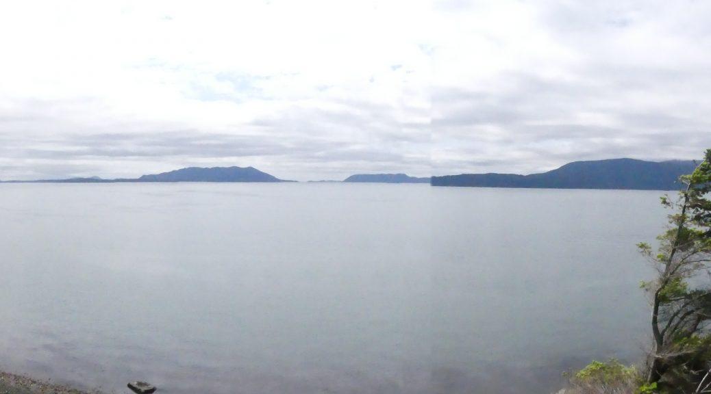 Vue panoramique de la baie depuis Lummi Island