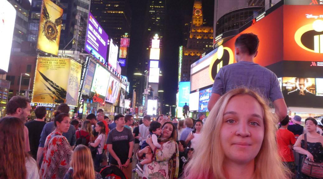 Eve à Times Square