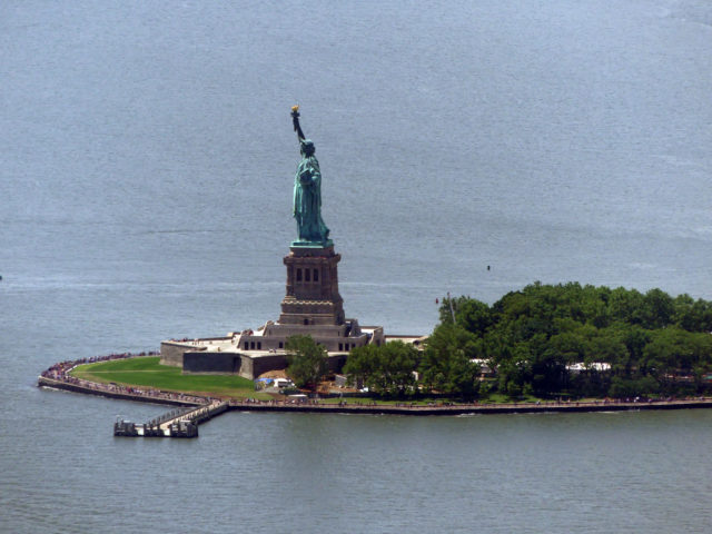 Liberty island vue depuis One World Observatory