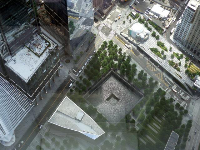 le mémorial vu d'en haut